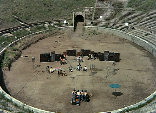 Pink Floyd a Pompei durante le riprese